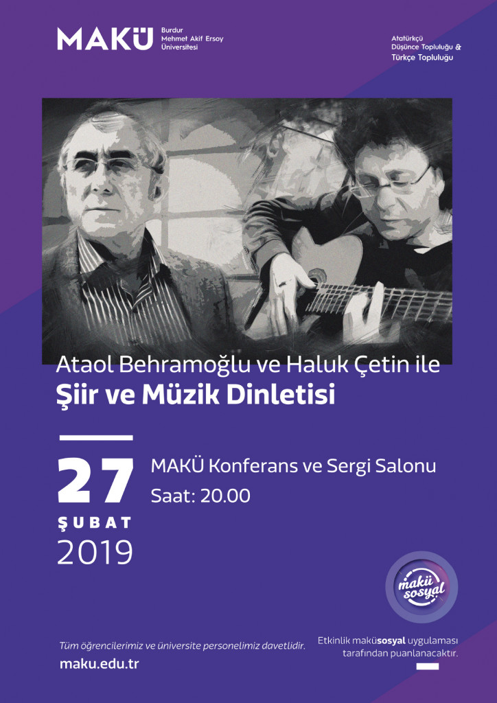 Ataol Behramoğlu Ve Haluk çetin Ile şiir Ve Müzik Dinletisi